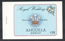 D16 Anguilla 1981 ** MNH Booklet Royal Wedding Princ Charles Lady Diana Have To See - LOOK - Antigua Und Barbuda (1981-...)