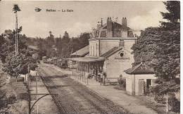 CPA   87  GARE DE   BELLAC TRAIN - Bellac