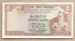Ceylon - Banconota Circolata Da 2 Rupie - 1974 - Sri Lanka