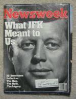 Newsweek Magazine - What J.F.K. Meant To Us - November 28, 1983 [#A0349] - News/ Current Affairs