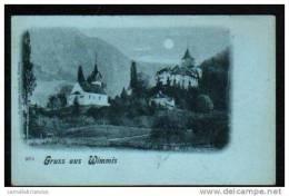 GRUSS AUS WIMMIS - CARTE A DOS SIMPLE - AU DOS CACHET AMBULANT N°15 - BE Berne