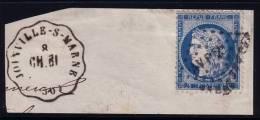 HAUTE MARNE - JOINVILLE S MARNE CH.BL. CONVOYEUR STATION N°60 OBLITERATION AMBULANT AVP2° SUR FRAGMENT DE LETTRE. - 1849-1876: Klassieke Periode