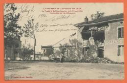 T002, Guerre En Lorraine 19 14, Fonderie De Chaufontaine, Près Rehainviller, Animée, Circulée 1914 Sous Enveloppe - Lorraine