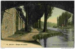 77 - MELUN - Berges De La Seine - Collection Galeries Melunaises - Couleur Toilée - Melun