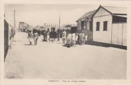DJIBOUTI ( RUE DU VILLAGE INDIGENE ) BELLE SCENE  ! ! ! - Djibouti