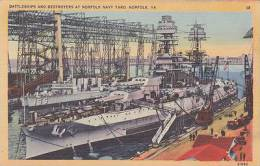 USA - VIRGINIA - BATTLESHIPS @ DESTROYERS AT NORFOLK NAVY YARD - Warships