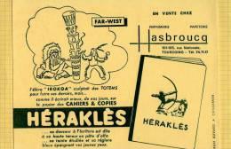 BUVARD :Herakles Hasbroucq Tourcoing Far West - Papeterie