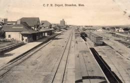 Brandon Manitoba RR Station 1905 Postcard - Manitoba