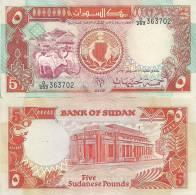 Sudan P-45, 5 Pounds, Cattle / Bank Of Sudan In Khartoum - Sudan