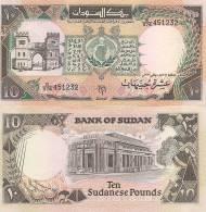Sudan P-46, 10 Pounds, City Gate / Bank Of Sudan In Khartoum - Sudan