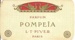 CARTE PARFUMEE ANCIENNE - PARFUM POMPEÏA - L.T. PIVER - PARIS - Calendrier 1914 - Anciennes (jusque 1960)