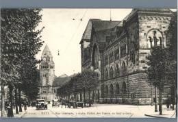 Metz - Rue Gambetta, A Droite L'Hotel Des Postes, Au Fond La Gare - France - Metz