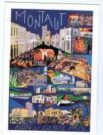 Carte Non Postale , 4 Volets , MONTAUT , Bon Et Gentil Pais , Landes , Corrida , 51 X 15 Cm ,   Frais Fr : 1.60€ - France