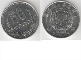 Albania 50 Qindarka 1988 Km 72 Bu !!!!!!!!  * - Albania