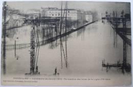 94 : Choisy-le-Roi - Inondations De Janvier 1910 - Perspective Des Voies De La Ligne D´Orléans - Petite Déchirure (haut) - Choisy Le Roi