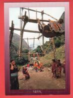 CPM: Népal - Balançoire Locale (Enfants- Jeux) - Nepal