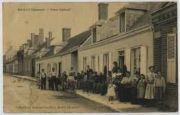 80 - ROLLOT - PLACE GALLAND - CAFE HOTEL HUBERT CAUDRON - France