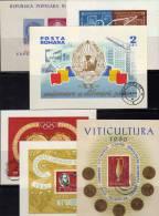 Sheet Romania Lot 1950-1970 Rumänien Block 39 48 50 51 53 57 O 30€ Wein Olympia Botanik Bloc Space M/s Bf Stamp On Stamp - Stamps