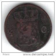 PAYS BAS KM51 1821 1/2 Cent. (FP66) - [ 3] 1815-… : Royaume Des Pays-Bas