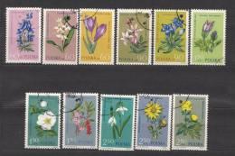 Poland 1962 Mi#1325-36 Flowers Short Set Used
