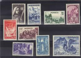 MONACO 1944 Y&T **,*  265-273 269*,270* - Monaco
