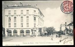 74 THONON LES BAINS / Hôtel Terminus Et Avenue De La Gare / - Thonon-les-Bains