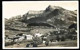 74 MEGEVE / Vue Générale Et L'Aiguille Du Varan /  CARTE PHOTO - Megève