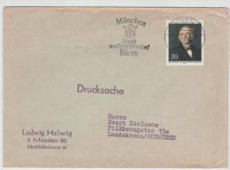 Germany Berlin Cover With Special Cancel München Stadt Weltberühmter Biere Munich 27-4-1970 Sent To Sweden - Beers