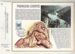 France - Feuillet CEF 386 - Franche Comté - 1er Jour 8.01.77 Besançon - T. 1916 - Covers & Documents