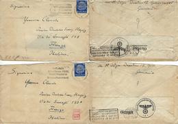 GERMANY 2 COVERS 1940 MILITARISCHE ZENSUREN DRESDEN TO FIRENZE - Briefe U. Dokumente