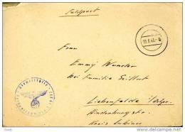 GERMANY 1943 FELDPOST 15377 MUTO LIEBENFELDE - Briefe U. Dokumente