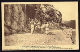 CPA  ANCIENNE- MACÉDOINE- CAMPAGNE ORIENT 1922-23- CARRIERE DE MARBRE ROUTE DE KOZANI-  BELLE ANIMATION GROS PLAN - Macedonia