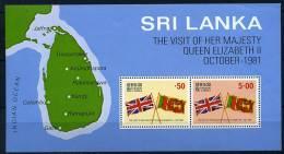 Sri Lanka ** Bloc N° 15 - Visite De La Reine D'Angleterre - Sri Lanka (Ceylan) (1948-...)