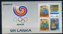 Sri Lanka ** Bloc N° 36 - J.O. De Séoul (course, Natation, Boxe) - Sri Lanka (Ceylan) (1948-...)