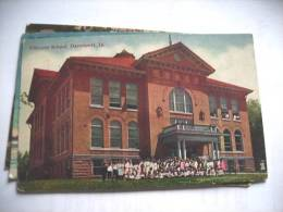 Amerika United States America USA IA Davenport Fillmore School - Davenport