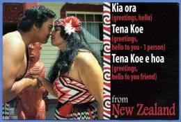 NEW ZEALAND, NEUSEELAND, The Hongi Or Light Pressing Of Noses And Holding Hands Is A Traditional Moori Greating - Neuseeland