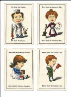 4 Cartes De Jeu / The Painter / Peintre Métier / Pot De Peinture // IM 97/3 - Vieux Papiers