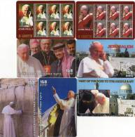 CARTES  PREPAYEES  WILLCOM   ISRAEL   Jean-Paul II   (lot De 7)  **** - Israel