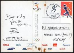 AUSTRALIA SYDNEY 2000 - OLYMPIC GAMES SYDNEY 2000 - ATHLETICS - POSTCARD: CELEBRATE HUMANITY - OLYMPIC FLAME - Sommer 2000: Sydney