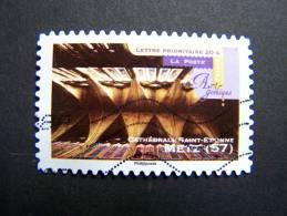 OBLITERE FRANCE ANNEE 2011 N° 555 SERIE ART GOTHIQUE CATHEDRALE SAINT ETIENNE DE METZ AUTOCOLLANT ADHESIF - France