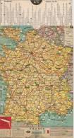 CARTE-1960-FRANCE-KM- A CURSEUR-15x22.5cm-VERSO-PUB COMMERCANTS DE LA ROCHELLE 17-TBE - Cartes Routières