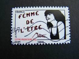 OBLITERE FRANCE ANNEE 2011 N° 538 SERIE FEMME DE L´ETRE DE MISS TIC AUTOCOLLANT ADHESIF - France