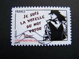 OBLITERE FRANCE ANNEE 2011 N° 539 SERIE FEMME DE L´ETRE DE MISS TIC JE SUIS LA VOYELLE DU MOT VOYOU AUTOCOLLANT ADHESIF - France