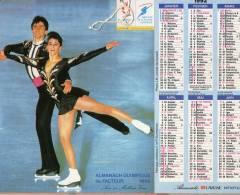 Calendrier Ptt 1992 Dos Ski Alpin Franck Picard Albertville 1992 - Grand Format : 1991-00