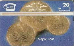 TARJETA DE AUSTRIA CON UNAS MONEDAS DE CANADA (MONEDA-COIN) NUEVA-MINT - Timbres & Monnaies