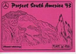PROYECT SOUTH AMERICA  ´ 93  MONTREKKING  PLASTIC ROCK   OHL - Publicité
