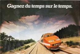 TGV Gagnez Du Temps Sur Le Temps  - SNCF (51240) - Eisenbahnen