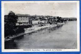 47 TONNEINS VUE GENERALE SUR LA GARONNE LAVANDIERES - Tonneins