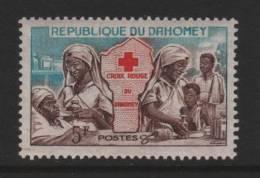 Benin(Dahomey), Scott # 156 MNH Red Cross, Nurses, Map, 1962 - Benin - Dahomey (1960-...)