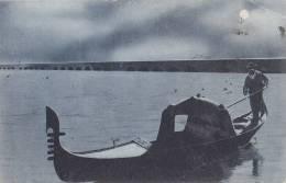 Gondel, Gondola In Venedig Vor Der Eisenbahnbrücke, Um 1908 - Altri
